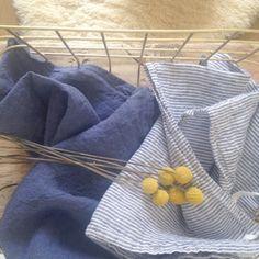 Torchon en lin lavé jeans - www.lereperedesbelettes.com