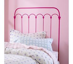 Land of Nod Kids' Wall Decals: Pink Wrought Iron Headboard Decal