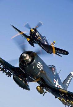 F-4U formation