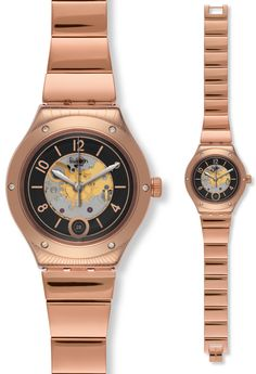 nice Swatch Mens Tonton Phil Rose Gold Plated Bracelet Watch just added. f9acccce425