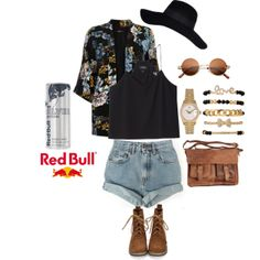 """Your Style, Your Music, Your Flavor"" for the RedBull contest by tonaigetiauna on Polyvore"