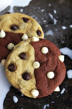 Brownie and chocolate chip cookie lovers unite in this soft and chewy hybrid cookie!