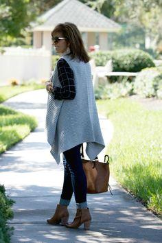 Fall Fashion-Plaid Shirt & Sweater Vest - Grace & Beauty
