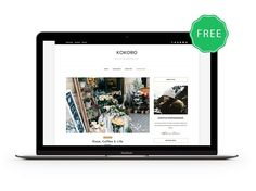 Kokoro- A Clean & Elegant blog theme by ZThemes.net on @creativemarket