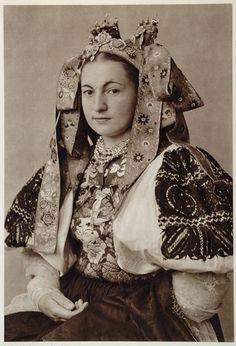 yingce:  Beautiful bridal costume of Ocova, Slovakia 1953.