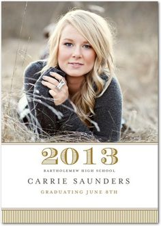 Graduation Announcement. Very traditional.