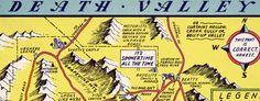 Lindgren's humorous #map of Death Valley, #California (1948)