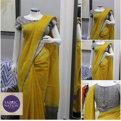 This beautiful elegant saree would just cost you around Rs. 3000. The saree fabric is zari tissue kota which is Rs. 136/- per meter and the blouse is #banaras silk which is Rs. 2200/- per meter. create your own saree or #dress according to your taste and #style.