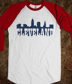 Cleveland Skyline Navy Blue