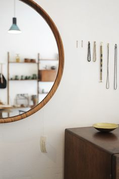 I like the large round mirror, though I think that'd be expensive :I Atelier Solarshop - Antwerp