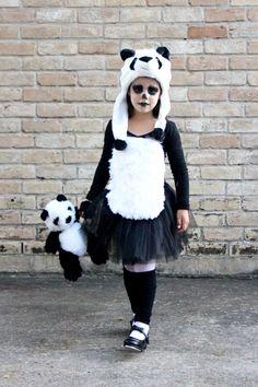 Disfraz Oso Panda niña   criandoando.com