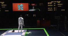 South Korean fencer Shin A-Lam refuses to leave the piste after she was wrongfully ruled to have lost her match. She appealed the ruling, but in fencing you cannot leave the mat during the appeal or else you are accepting the ruling.