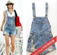 Women hole Short Jeans,Fashion Jumpsuits hot Pants,Overalls Denim Shorts,Girl Summer Cool wear rompers on AliExpress.com. $18.70