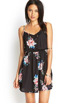 Floral & Lace Sun Dress | FOREVER21 #SummerForever WHY CANT CUTE SHIT LIKE THIS BE IN BIG GIRL SIZES??