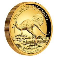 Australian Kangaroo 2015 1oz gold proof High Relief coin.
