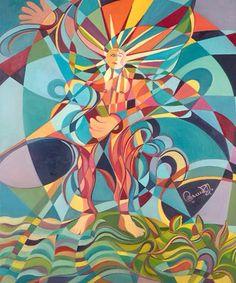 VISAGE RAYONNANT Huile sur toile de l'artiste peintre Gabriel Landry.  www.gabriellandry.com Gabriel, Artist Profile, Canadian Artists, Artists Like, Oil On Canvas, Contemporary Art, Creations, Sculpture, Fine Art