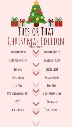 Christmas This or That Story Template for Facebook and Instagram created by @BrewedTea4You Christmas Music, Christmas Movies, A Christmas Story, Christmas Post, Christmas Games, Christmas Activities, Christmas Holidays, Christmas Crafts, Xmas