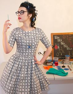 Periodic Table Dress by Silly Old Sea Dog in UK sizes 6-24