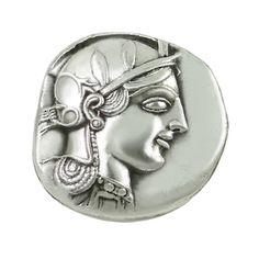"Handmade silver-plated copy of the silver four-drachma ""tetradrachm"" coin of…"