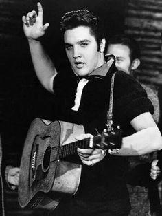 Elvis Rehearsing For Milton Berle