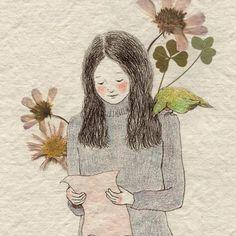 Floral Illustrations, Illustration Art, Avatar, Paintings I Love, Korean Artist, Fish Art, Whimsical Art, Cute Drawings, Character Inspiration