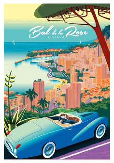 Art Deco Posters, Poster Prints, Monaco, Pose, Travel Illustration, City Art, Vintage Travel Posters, Ocean Beach, Brand Book