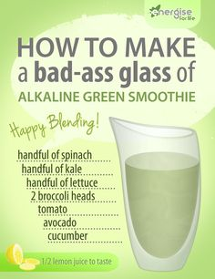 How to make a powerhouse alkaline smoothie!