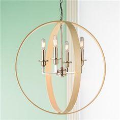 Wood Rings Orbit Chandelier - Shades of Light