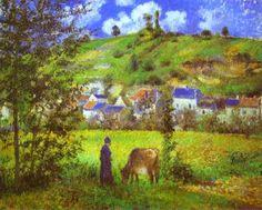 Camille Pissarro, Landscape at Chaponval