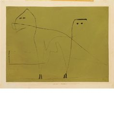 MESALLIANCE  By Paul Klee    Medium: Gouache and ink on paper hinged to paper support  Creation Date: 1933