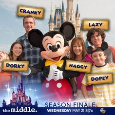 Heck yes! season finale starts at 8 The Middle Series, The Middle Tv Show, Stuck In The Middle, The Goldbergs, Abc Shows, Candle In The Wind, Disneyland Park, Funny Scenes, Disney Planning