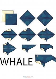 Animal origami easy instructions for kids. Easy to follow step by step origami for kids. Sea animals, butterfly origami and many others creative origami activities. Great origami collectibles.