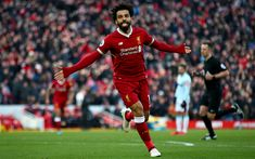 Download wallpapers Mohamed Salah, 4k, Liverpool FC, Egyptian football player, goal, Premier League, football game