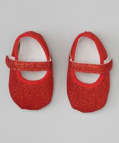 Take a look at this Red Sparkle Mary Jane by Diva Daze on #zulily today!