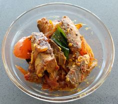 Coming from Sri Lanka, which is still a developing country, canned mackerel and canned tuna are a regular dish at lunch and dinner. For one, canned fish are cheaper compared to fresh fish, and seco… Lunches And Dinners, Japchae, Fried Rice, Tuna, Fries, Healthy Eating, Dishes, Sri Lanka, Ethnic Recipes