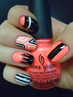 Love these nails! (Nails to die for) Get Nails, Love Nails, Pretty Nails, Hair And Nails, Funky Nails, Pedicure, Nailart, Lavender Nails, Uñas Fashion