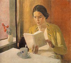 Dejneka, Giovane donna con libro, 1934