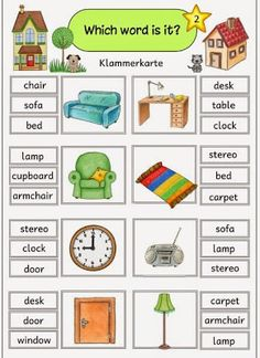 "Ideenreise: Klammerkarten ""At home/furniture"""