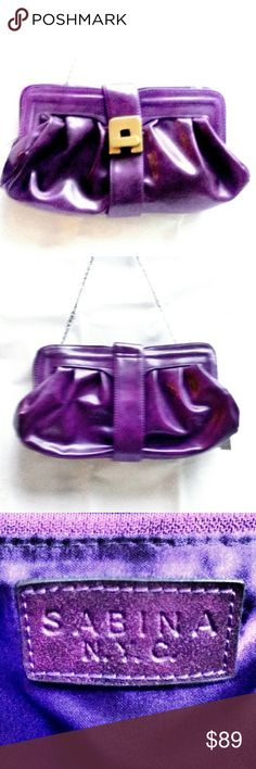 Sabina Convertible Clutch- New w/Tags Sabina New York Convertible Clutch- New w/Tags in gorgeous plum purple with gold hardware. Sabina Bags