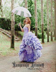 "Buy Wedding dress with ruffles ""White Crystal"".Dress-transformer. - wedding, wedding dress"