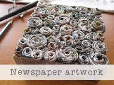 newspaper on canvas - Google Search