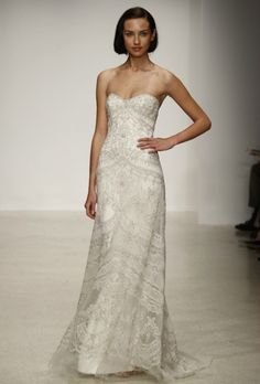 New Kenneth Pool Wedding Dresses: This Lady (Yes, Lady!) Designs Some KILLER Strapless Dresses!