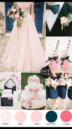 Blush and Navy Wedding Color Palette
