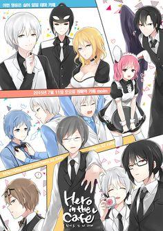 Hero in the Cafe Webtoon Comics, Art Series, Anime Style, Manhwa, Anime Art, Author, Superhero, Illustration, Characters