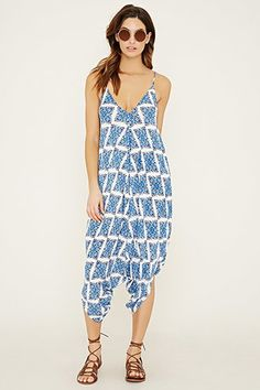 Ornate Print Jumpsuit Cover-Up