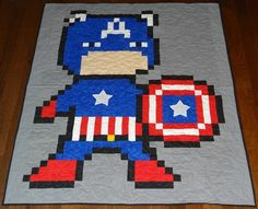 Superhero quilts! Such an amazing find!
