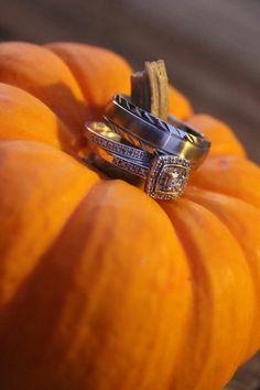 Pumpkin wedding ring picture