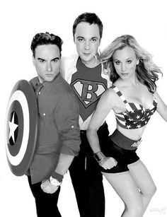 Big Bang Theory- just three of them dressed as superheroes!