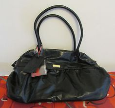 "New- women`s / #girls - fcuk #black pvc #handbag - bowling bag 18x12x6"",  View more on the LINK: http://www.zeppy.io/product/gb/2/201666784884/"