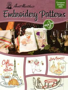 NEW Aunt MARTHA'S Embroidery DESIGNS Transfer BOOK - EUROPEAN DELIGHTS